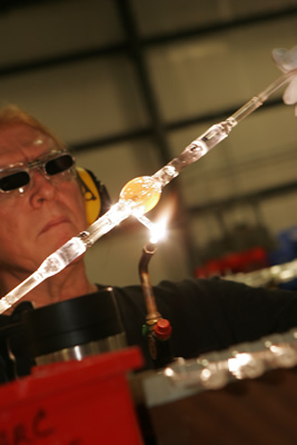 Quartz worker using torch on Air Cooled Xenon Lamp