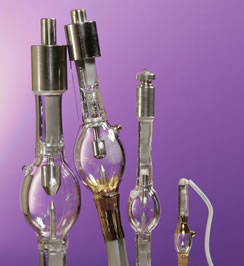 Photograph of Various Short Arc Lamps